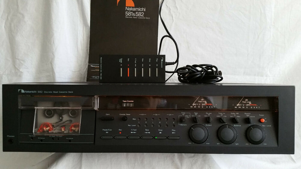 nakamichi 582 cassette deck rm 200 remote control unit owner s rh m ebay ie nakamichi 582 owners manual Instruction Manual Book