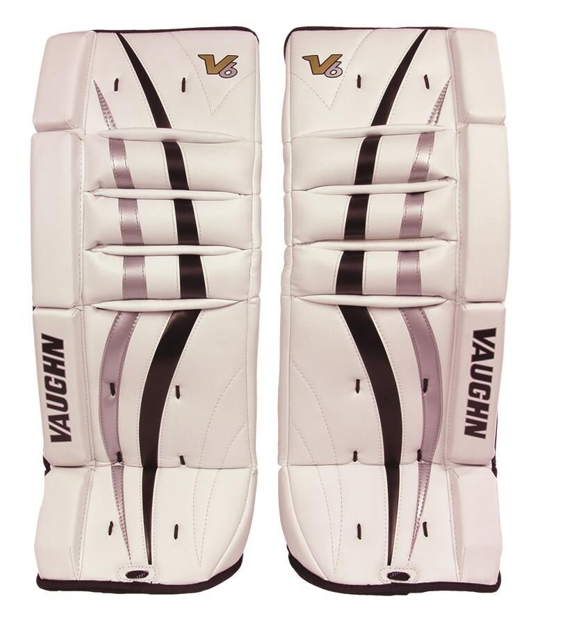 new vaughn 700 goal ice hockey leg pads 20 blacksilver