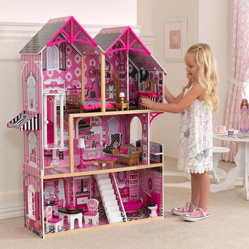 Kidkraft couture wooden kids dollhouse dolls house for Couture house