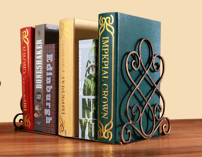 Pair Of Metal Foldable Vintage Bookends Book Ends Home