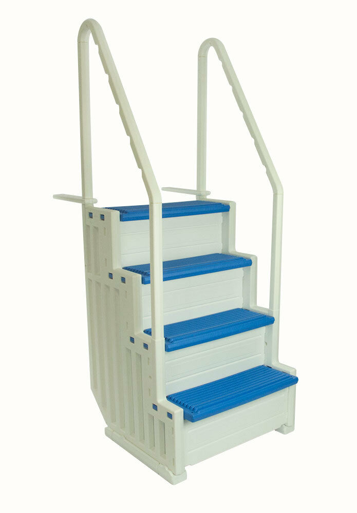 confer step 1 aboveground in pool swimming pool steps entry system blue