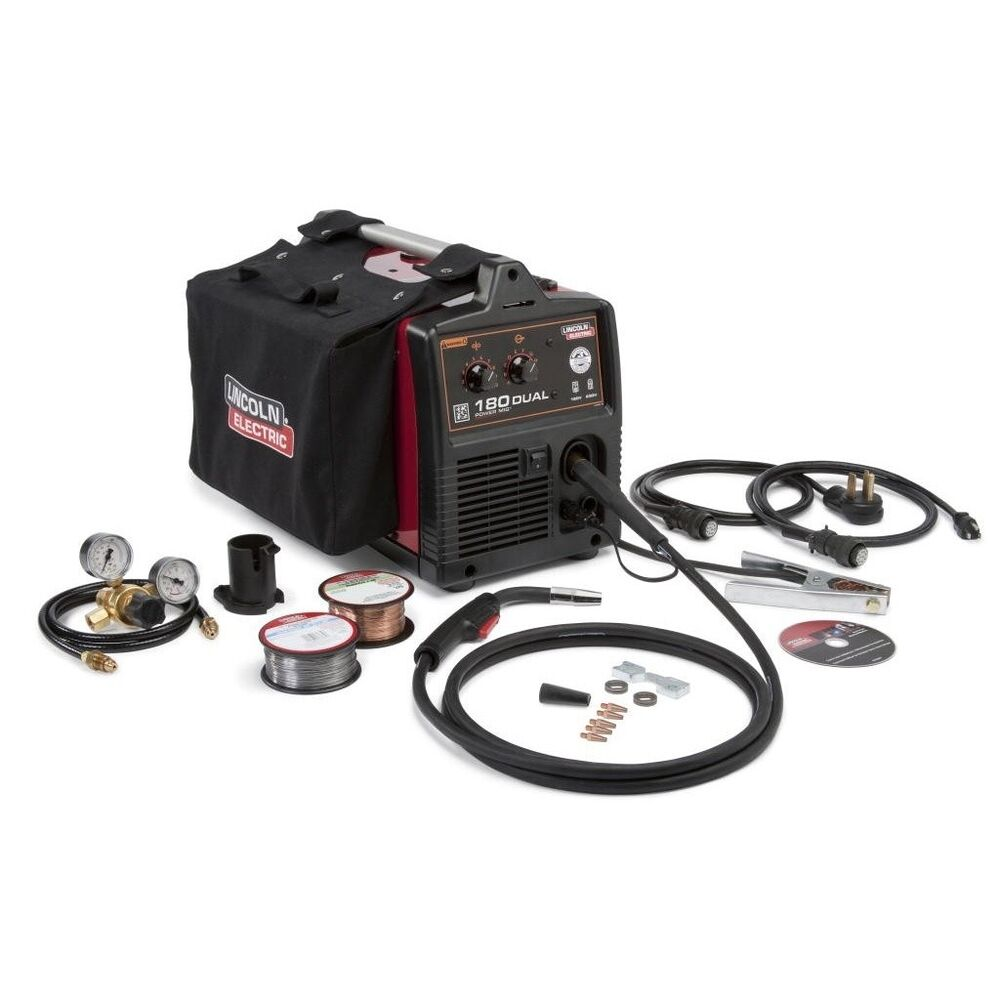 Lincoln Mig Welders: Lincoln Power MIG 180 Dual MIG Welder Package K3018-2