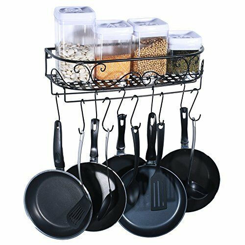 kitchen pot organizer hanging pot holder pan hanger cookware hook rack iron 2461