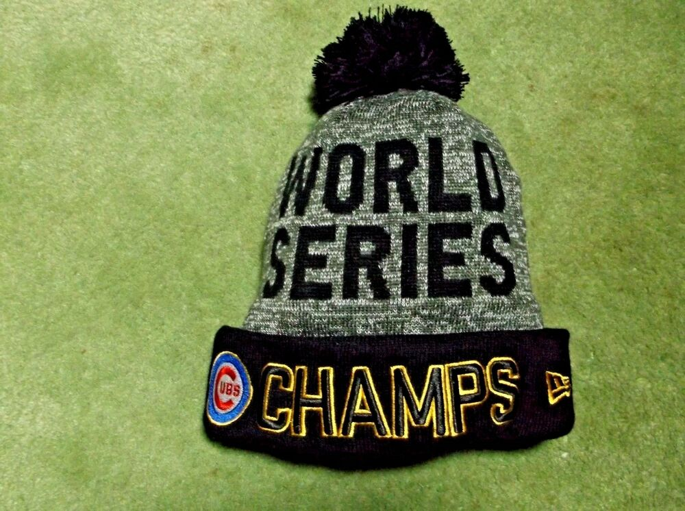 World Series Champs Chicago Cubs Beanie Hat Cap New Era New With Tags  f0e4d58370a