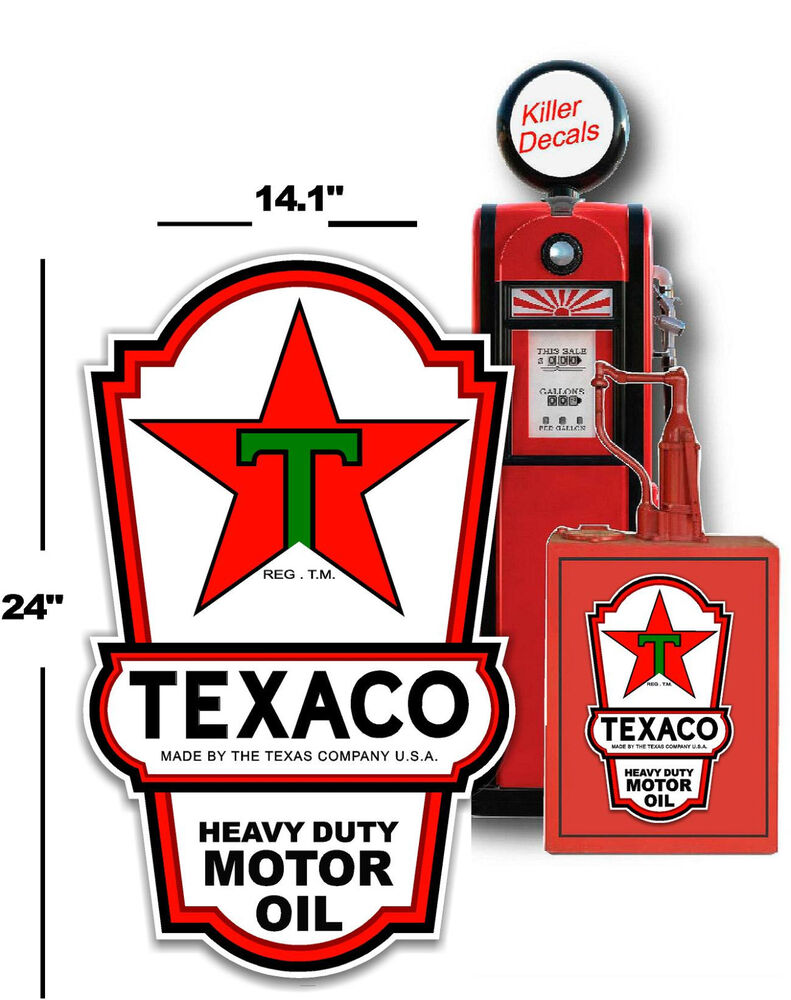 """24"""" X 141"""" Texaco Lubster Side Decal Gas And Oil Pump. Germanic Lettering. Slate Stickers. Air Lettering. Tshirt Lettering. Senior Class Banners. Petrol Station Signs. Homoeopathy Logo. Free Tattoo Lettering"""