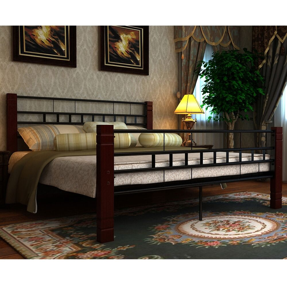 bett metallbett mit ohne matratze bettgestell doppelbett lattenrost lattenrahmen ebay. Black Bedroom Furniture Sets. Home Design Ideas