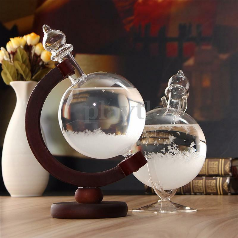 Weather forecast crystal drops globe shape storm glass Crystal home decor