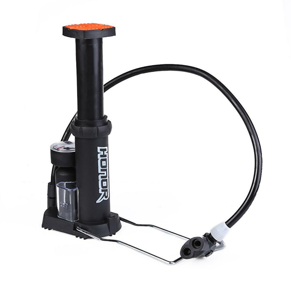 Car Bike Tire Tyre Portable Foot Pedal Bicycle Floor Pump Inflator With Gauge Ebay
