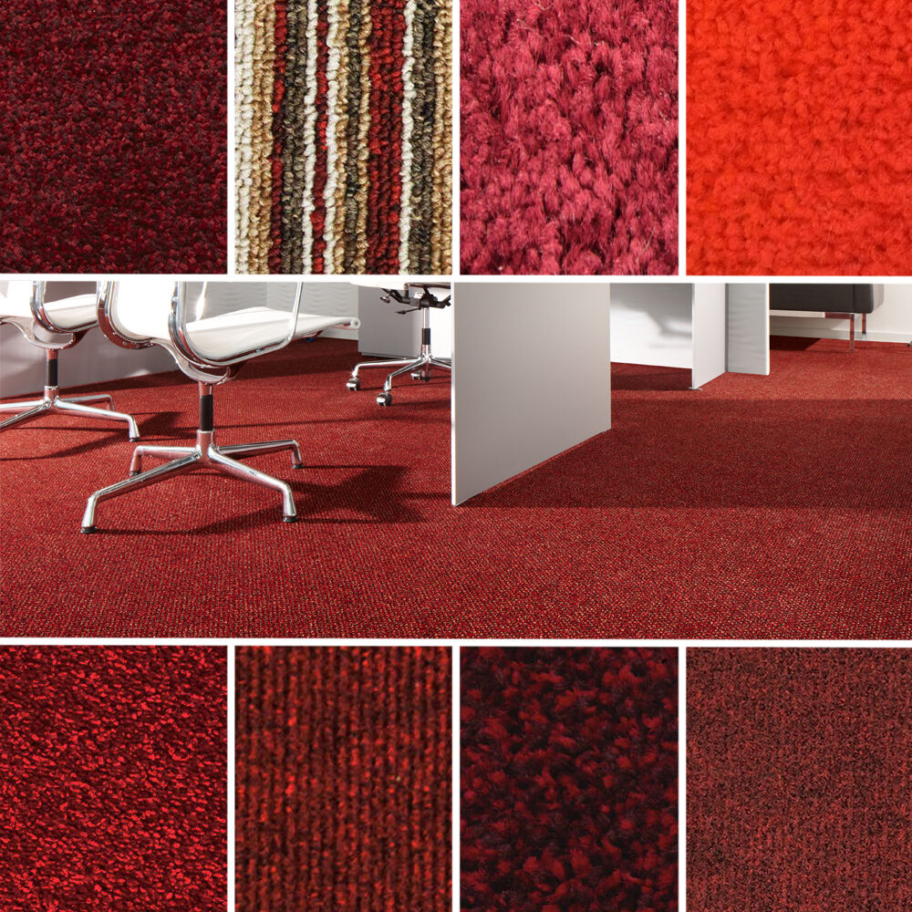 Details about Quality Red Carpets - Cheap Rolls - Brand New Carpet - Loop, Twist, Saxony Piles