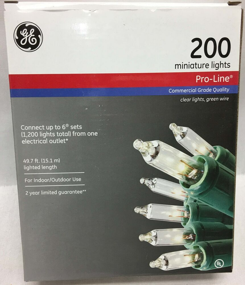 Commercial Grade Outdoor Icicle Lights: GE Pro-Line 200 Clear Light String Commercial Grade