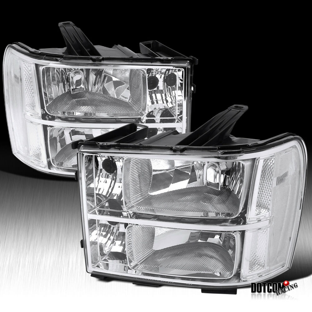 2007-2013 GMC Sierra 1500 2500 3500 HD Denali Chrome Clear ...