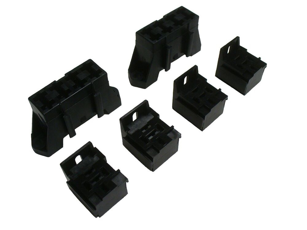 automotive fuse and relay holder block socket kit with