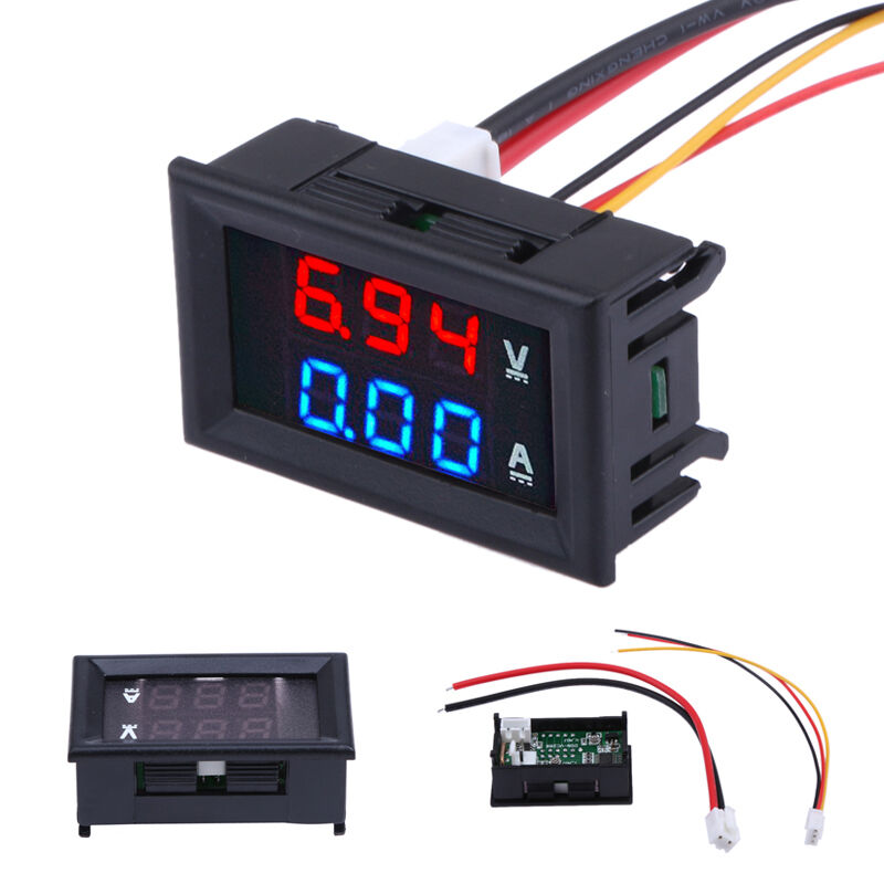 12 Volt Panel Meter : Dc v a digital led panel voltmeter ammeter amp