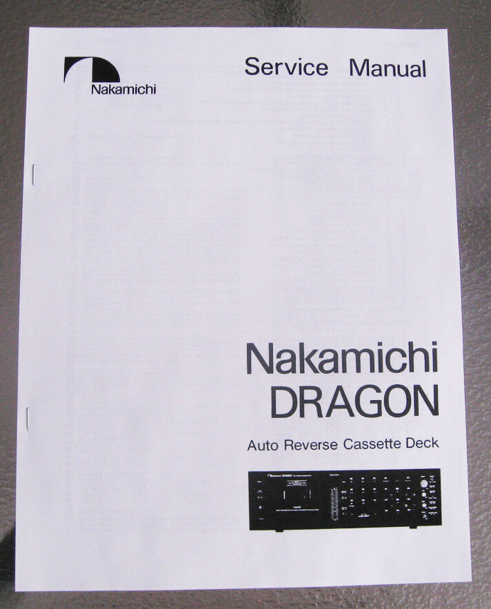 nakamichi dragon cassette deck service repair manual paper print ebay nakamichi 480z service manual Nakamichi Headphones
