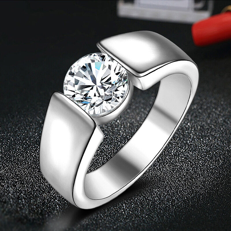 wholesale silver engagement promise rings s