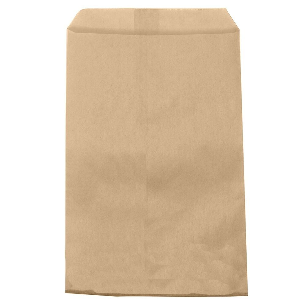 100 brown kraft paper bags gift bags merchandise bags 6 x for Brown paper craft bags