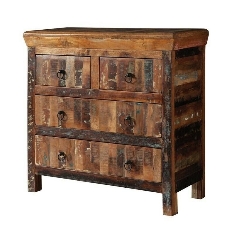 Coaster 4 Drawer Accent Cabinet In Reclaimed Wood Ebay