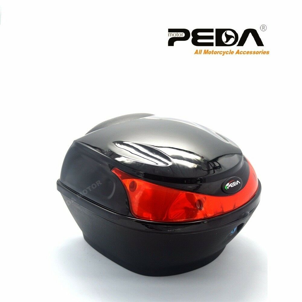 2018 new rear box top case luggage for scooter 25km moped motorcycle motorbike ebay. Black Bedroom Furniture Sets. Home Design Ideas