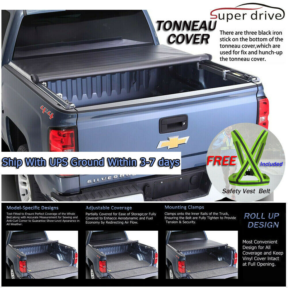 Dodge Bed Covers: Fits 2009-2017 DODGE RAM 1500/2500/3500 ROLL UP Tonneau