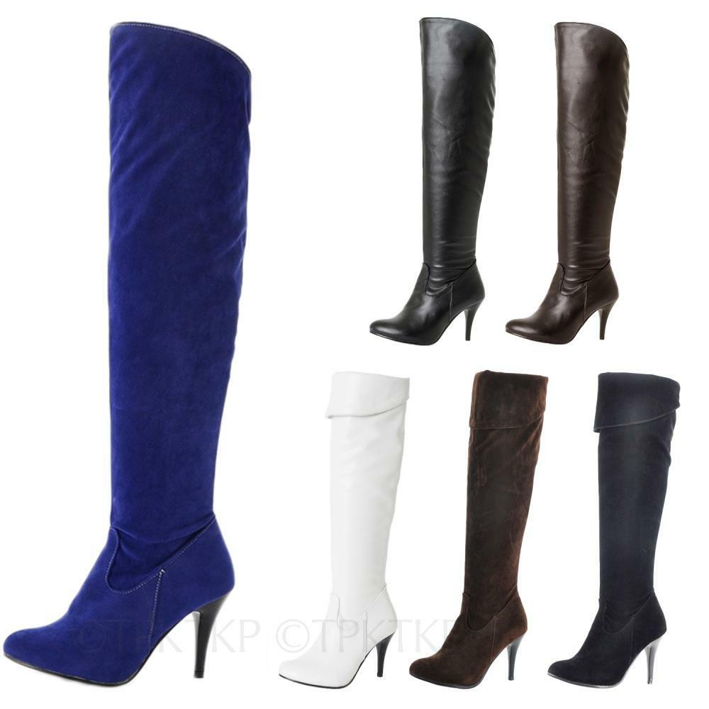 shoes high heels suede faux leather boots