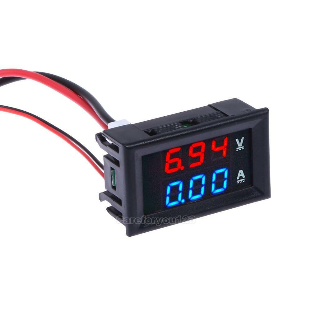dc 100v 10a digital led display voltage voltmeter ammeter. Black Bedroom Furniture Sets. Home Design Ideas