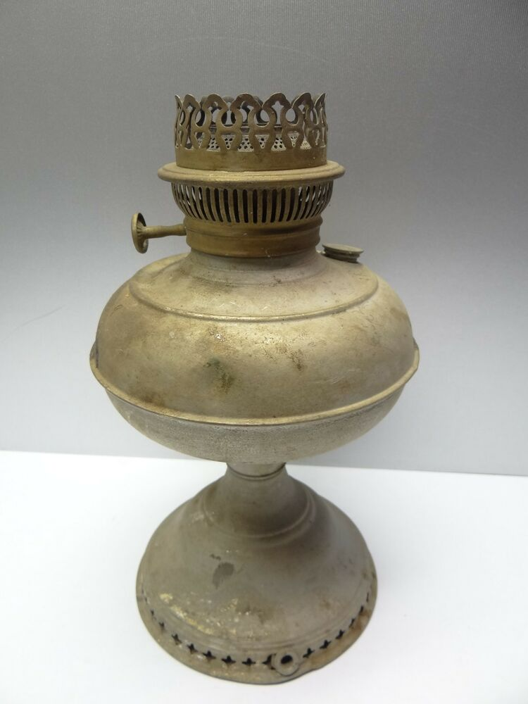 antique used metal brass stainless steel rayo lamp 87993