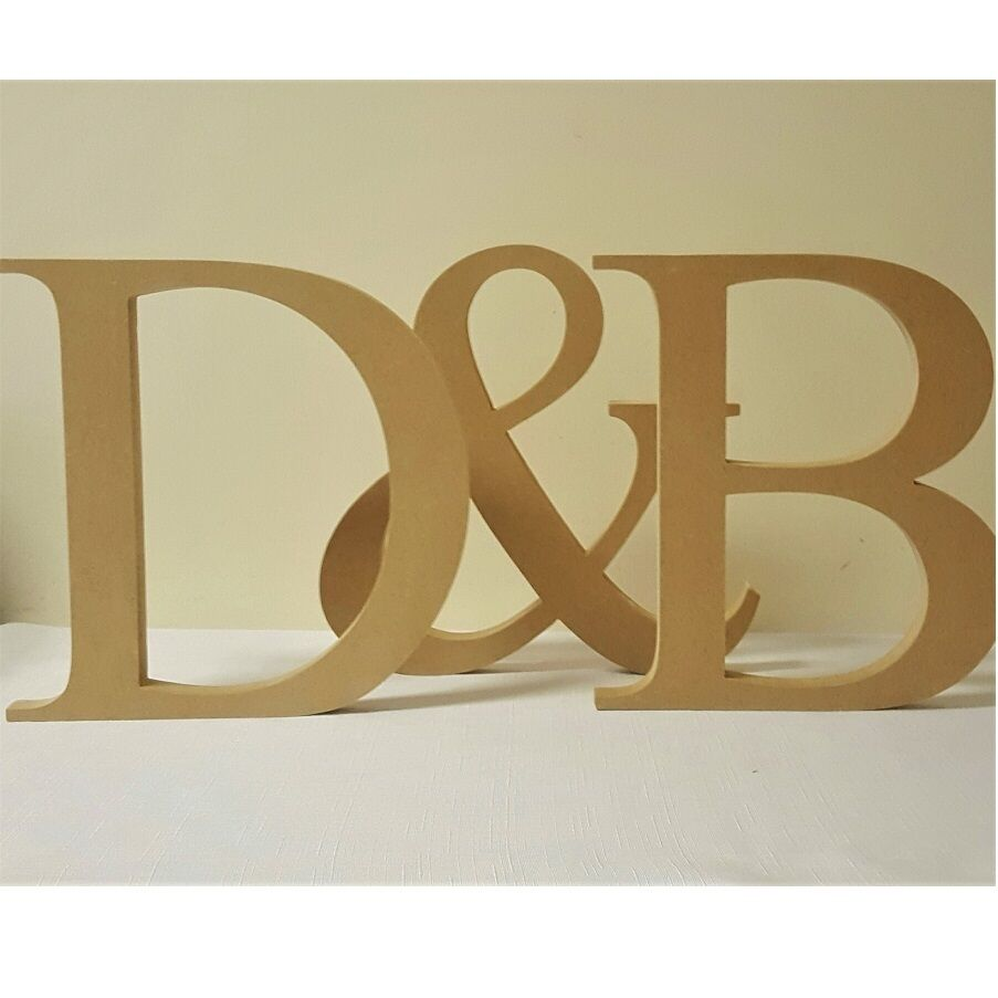 Personalised 25cms high wedding initials freestanding for Ebay wooden letters