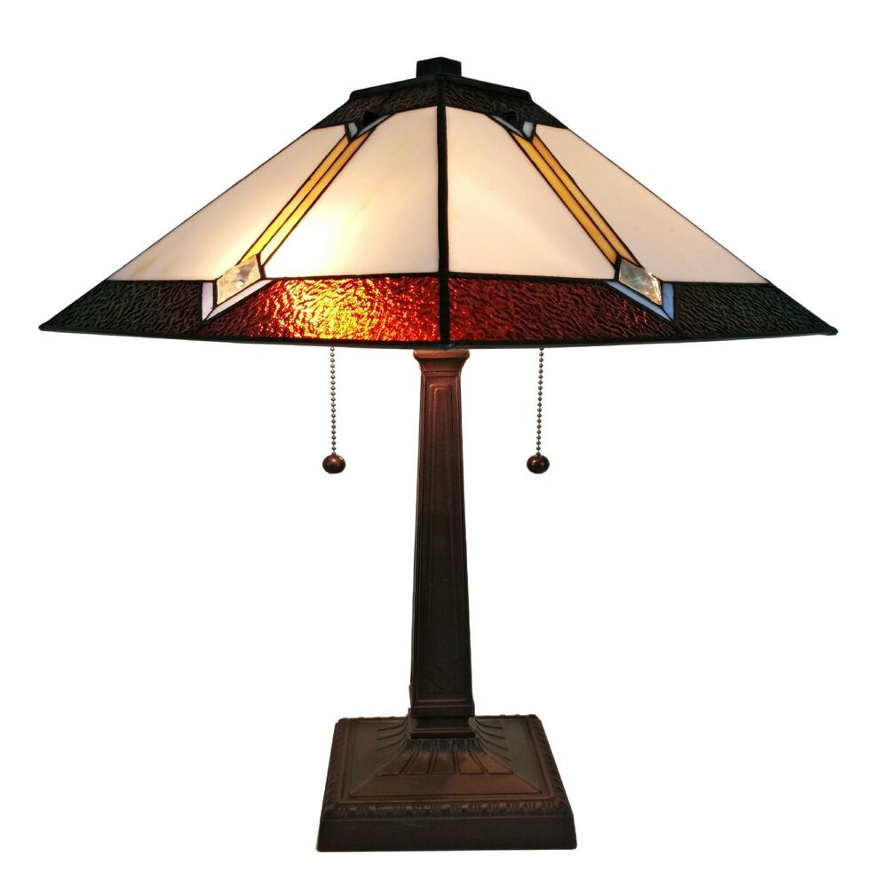 Lite Up Glass Lamps : Tiffany style stained glass amora lighting am tl