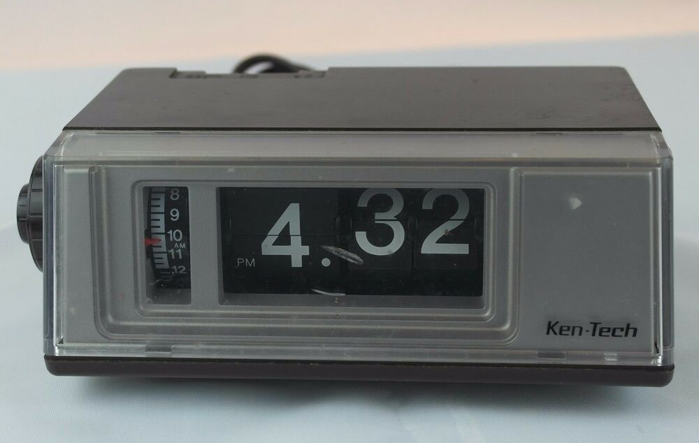 Vintage Ken Tech Flip Clock Radio Alarm Model T 405