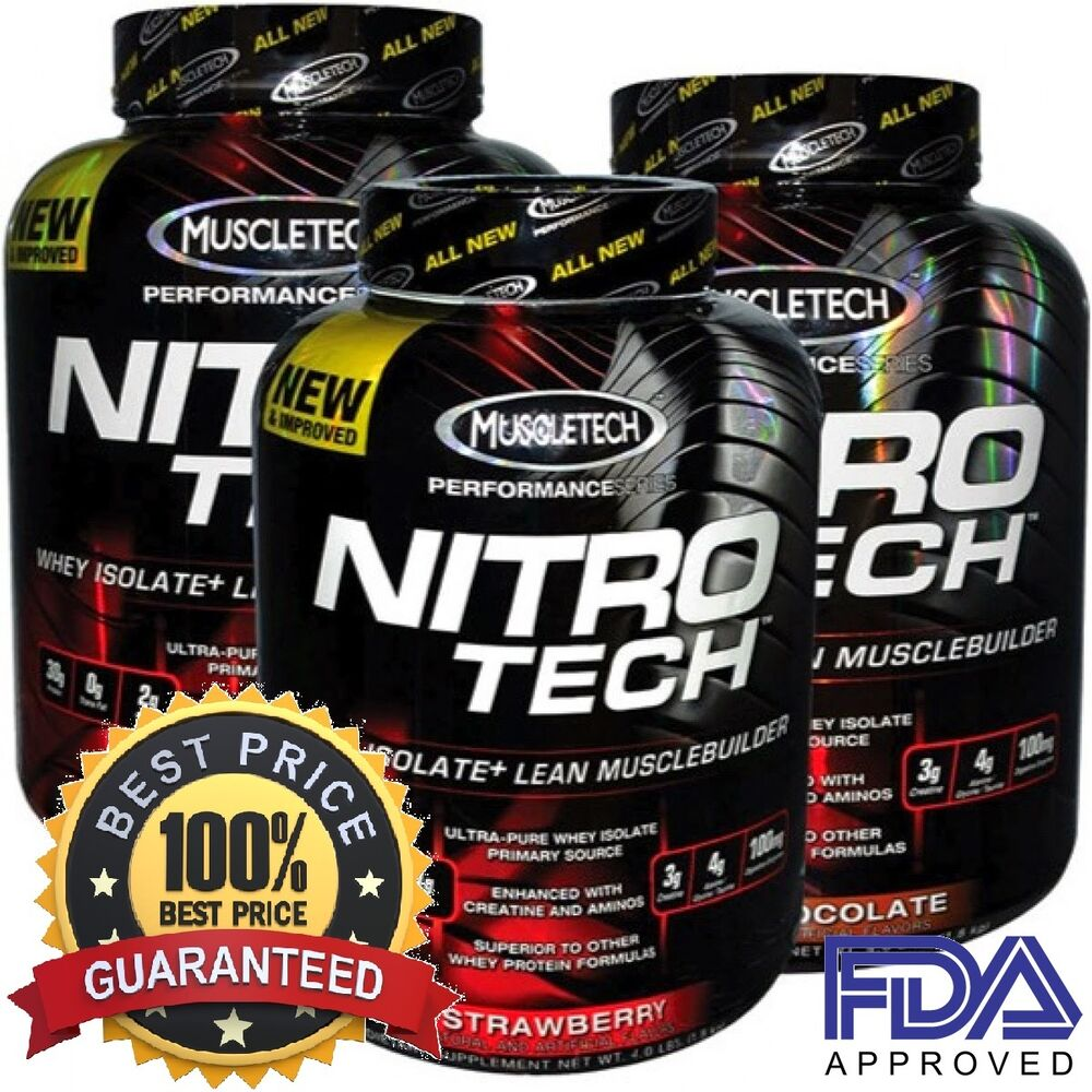 Muscletech Nitro Tech Performance Series Best Whey Protein Isolate Nitrotech Ripped 4lbs 4 Lbs Pick A Flavor Ebay