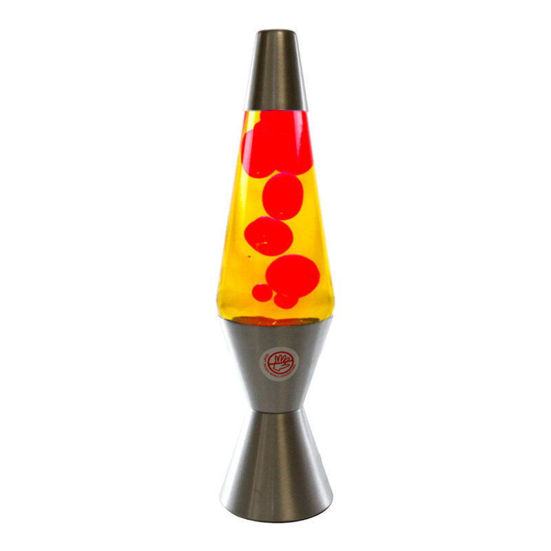 new motion lava lamp 37cm silver base yellow red rm km802e party night light ebay. Black Bedroom Furniture Sets. Home Design Ideas