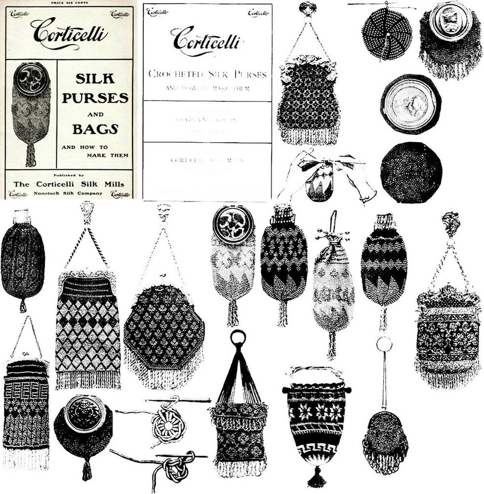 Victorian Beaded Purse Pattern Book 1900 Purses Bags Ebay
