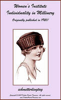 Millinery Book Make Flapper Hat Styles Making Hats 1920