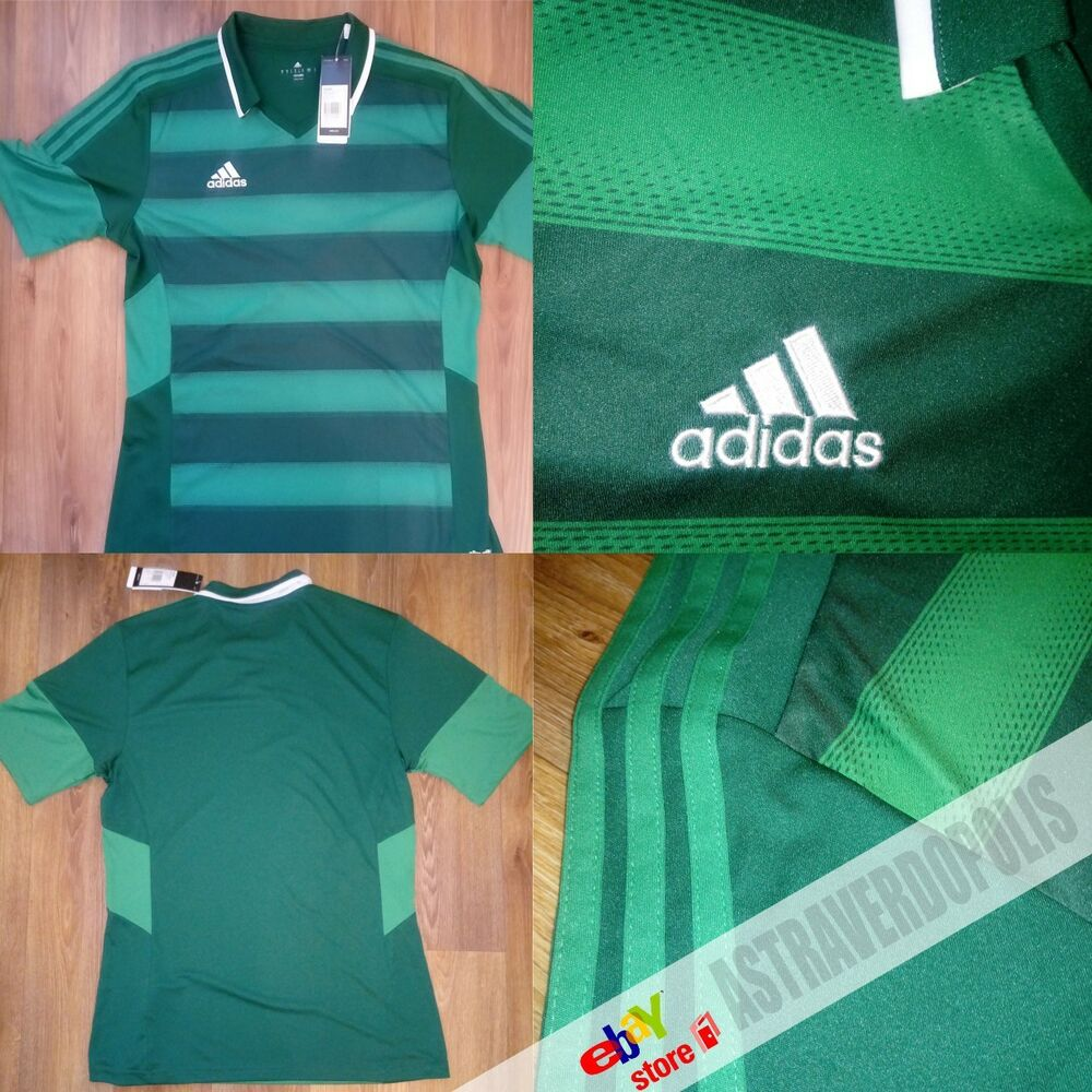 e0f1c7640 Details about ADIDAS FOOTBALL SOCCER GREEN MENS T-SHIRT FORT14 JERSEY TEE  SIZE M CLIMALITE