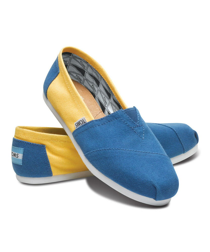 588e56fd075 Details about New w  Box!! Mens Toms Campus Classics UCLA Slip On Shoes T13  rt
