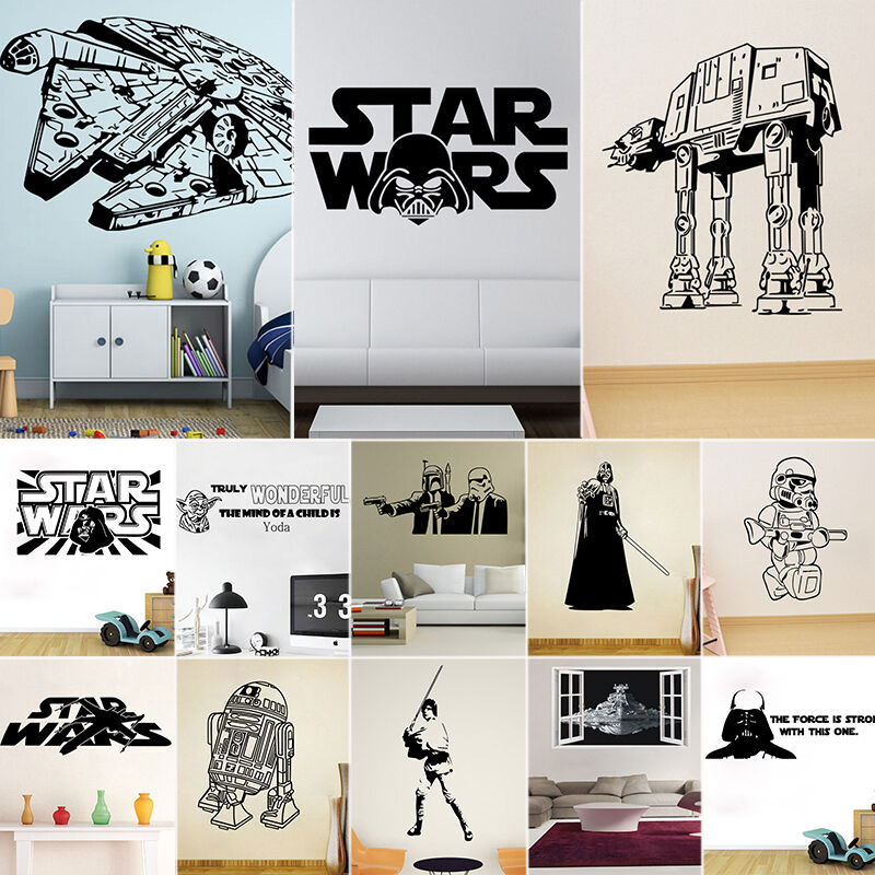 3D Star Wars Wall Stickers Bedroom Wallpaper Removable