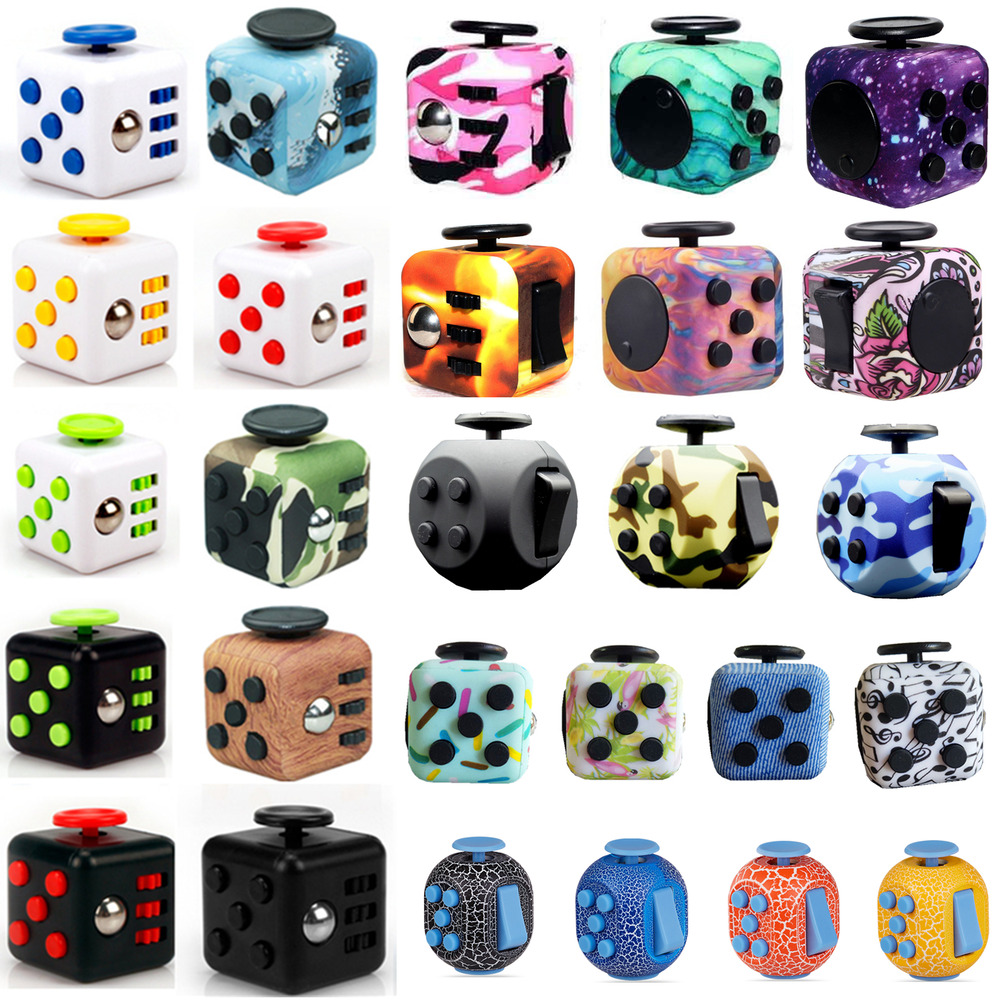 Stress Relief Toys : Fidget cube dice vinyl desk toy children adults stress