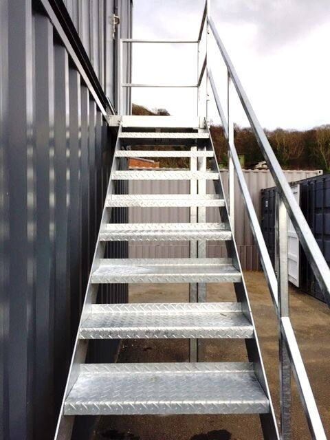 2m Mezzanine Staircase Steel Metal Staircase Fire Escape