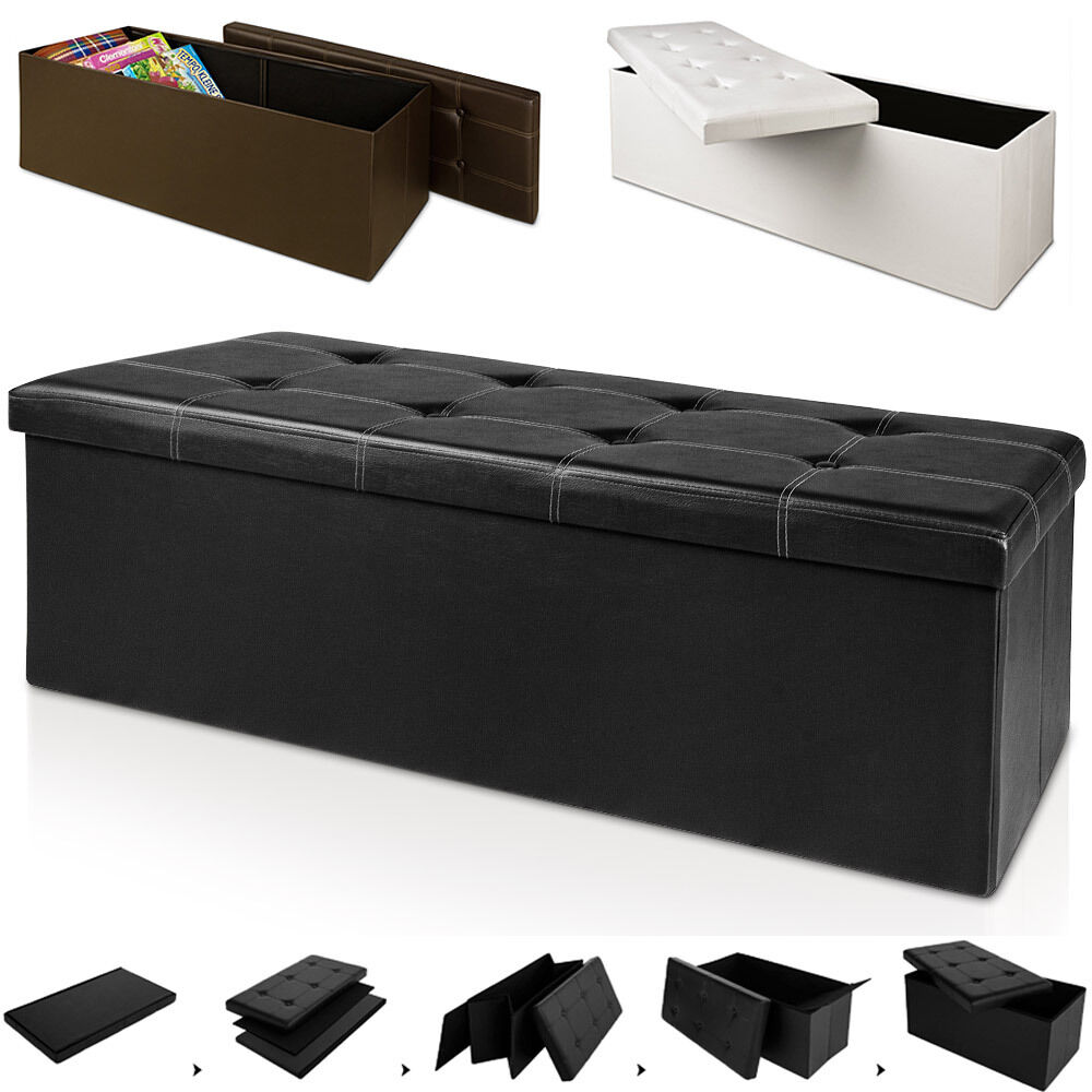 Stool Seat Ottoman Cube Storage Box Footstool Bench Stool