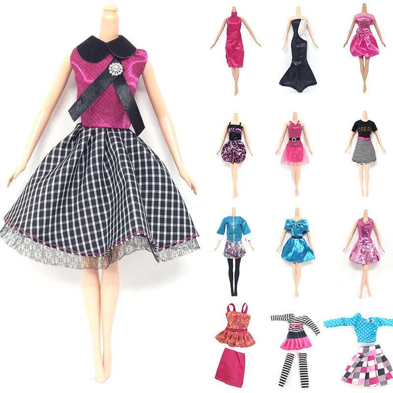 10pcs Handmade Dresses Clothes For Barbie Doll Style Random Gift Set 2017 New Ebay