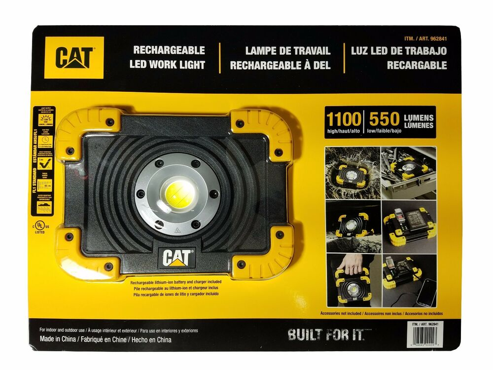 Led Cat Work Lights : Cat rechargeable led work light high low lumens