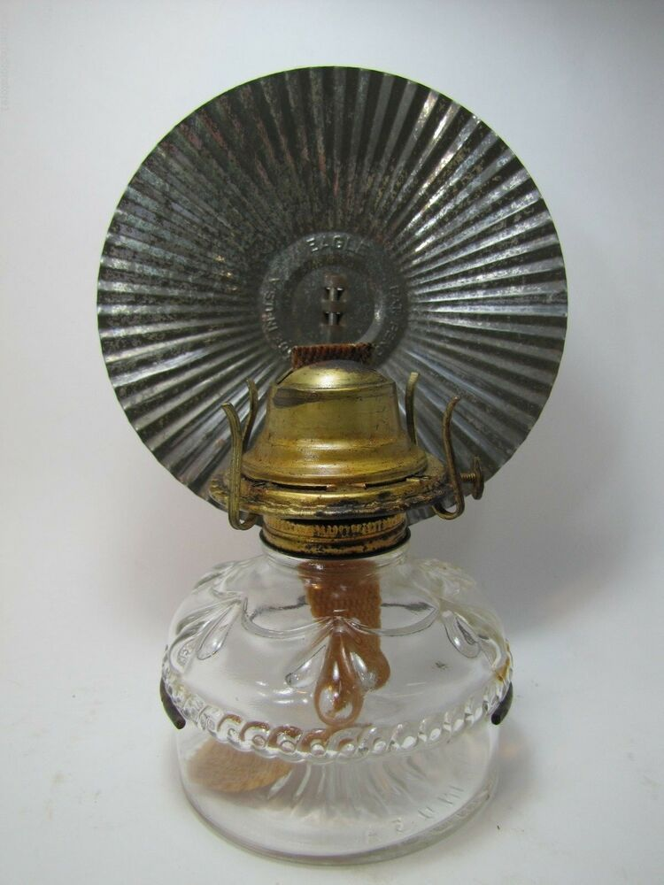 Old Eagle Oil Lamp with Original Tin Reflector light made ...