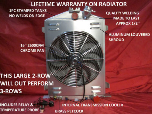 People Using Electric Fan : Ford hi boy high street rod aluminum radiator