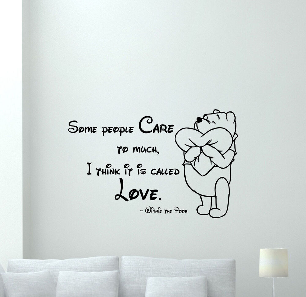 Vinyl Wall Art Quotes For Nursery : Winnie the pooh quote wall decal vinyl sticker nursery