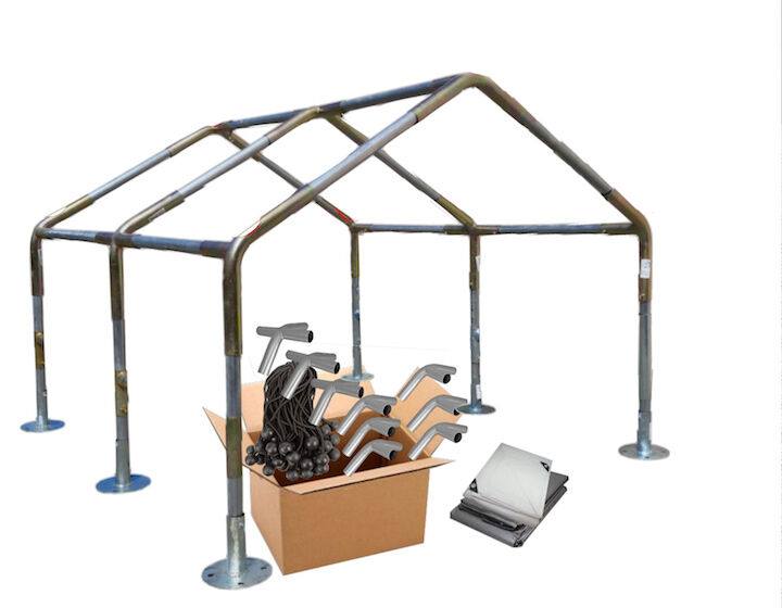 Heavy Duty Metal Carport : Canopy frame kit  heavy duty carport