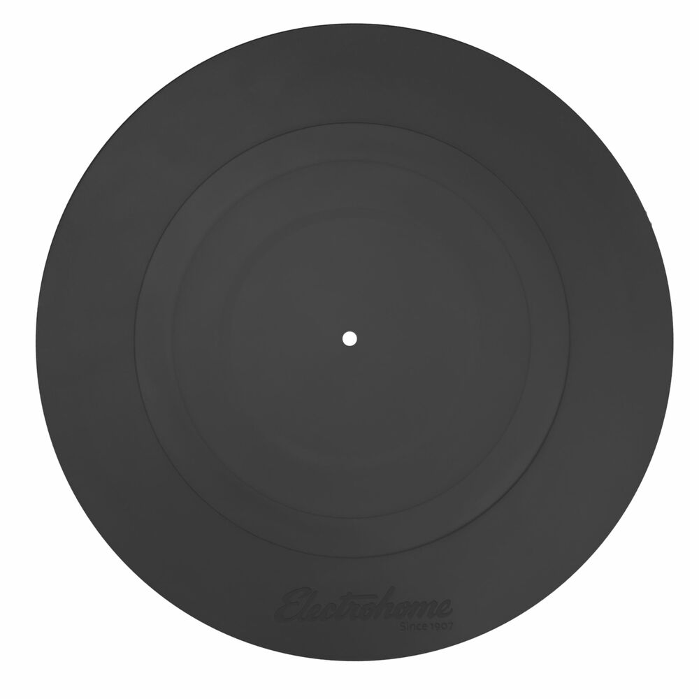 Electrohome Turntable Platter Mat Rubber Black For Vinyl