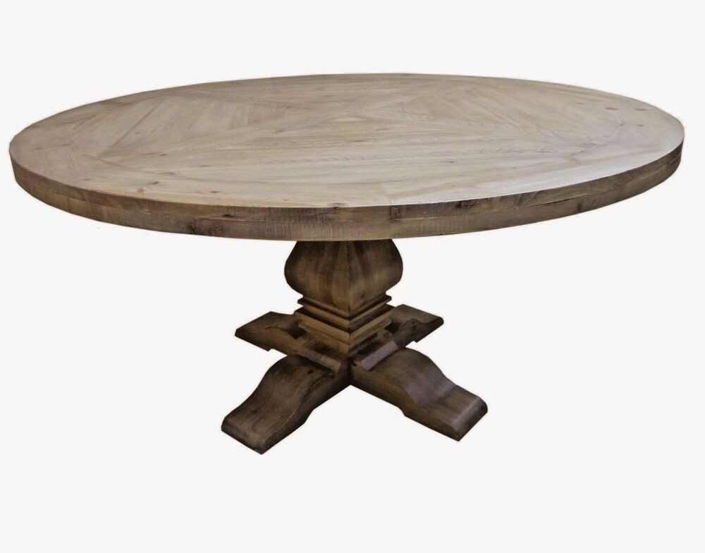 rustic round dining tables restoration salvaged rustic trestle pedestal dining 5023