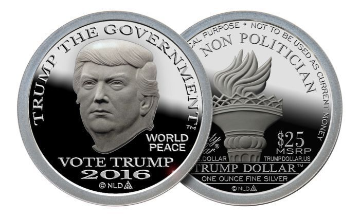 1oz 2016 Trump 999 Fine Silver Bullion Round Norfed 25