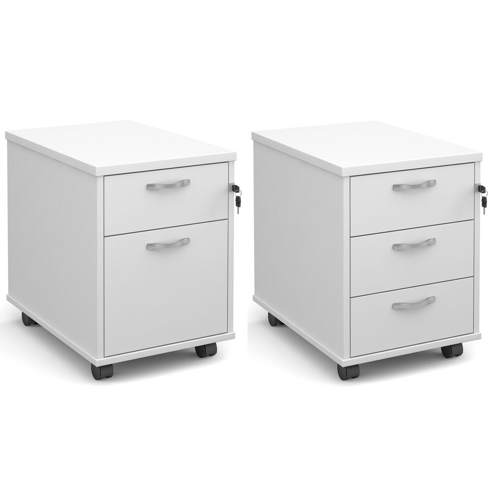 White mobile under desk office pedestal computer drawers - Mobile office desk ...