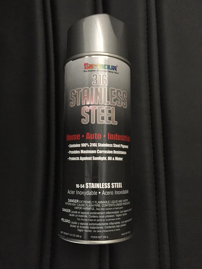 Seymour paint 16 054 stainless steel rust protective spray for Can you spray paint stainless steel